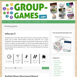 Thinking games – Group Games