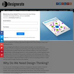 Design Thinking in Schools: Building a Generation of Innovators