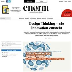 Design Thinking - wie Innovation entsteht