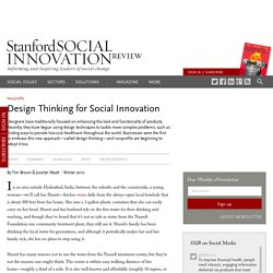 Design Thinking for Social Innovation