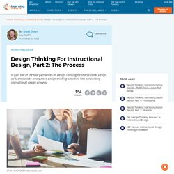 Design Thinking For Instructional Design, Part 2: The Process