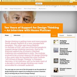 Ten Years of Support for Design Thinking – An Interview with Hasso Plattner