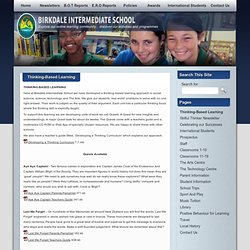 Thinking-Based Learning » Welcome to Birkdale Intermediate School