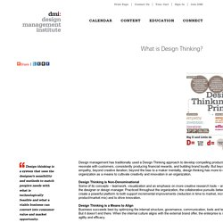 What is Design Thinking? - Design Management Institute