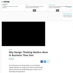 Why Design Thinking Matters More in Business Than Ever