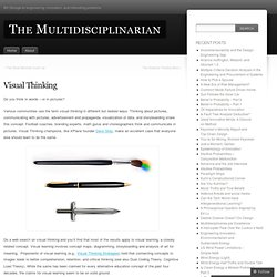 Visual Thinking « The Multidisciplinarian