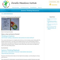 Systems Thinking Resources - The Donella Meadows Institute