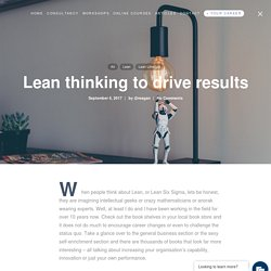 Lean thinking to drive results - LeanScape