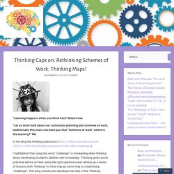 Rethinking Schemes of Work: Thinking Maps