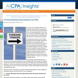 5 Forward-thinking Client Solutions for CPAs
