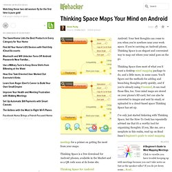 Thinking Space Maps Your Mind on Android