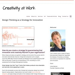 Design Thinking as a Strategy for Innovation