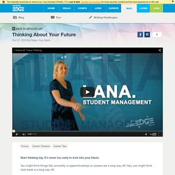 Thinking About Your Future · Student Edge Articles