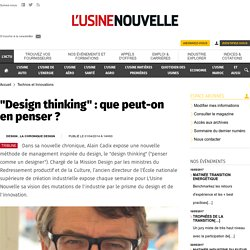 """Design thinking"" : que peut-on en penser ?"