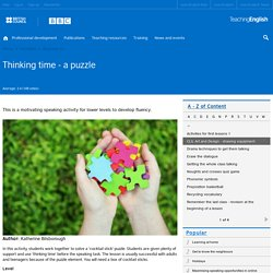 Thinking time - a puzzle