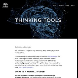 Thinking Tools — The Law Project