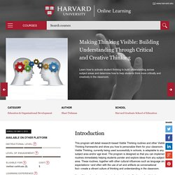 Making Thinking Visible: Building Understanding Through Critical and Creative Thinking