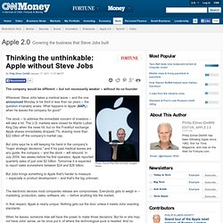 Thinking the unthinkable: Apple without Steve Jobs