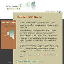 thinkingHarmony - in-depth discussions of jazz and classical harmony