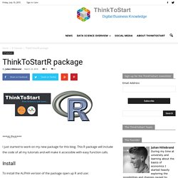 ThinkToStartR package - ThinkToStart