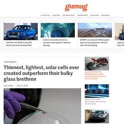 Thinnest, lightest, solar cells ever created outperform their bulky glass brethren