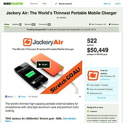 The World's Thinnest Portable Mobile Charger by Jackery