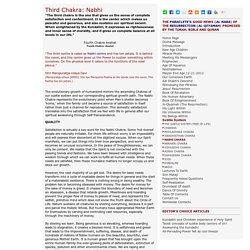Third Chakra:Nabhi or Manipurna Chakra
