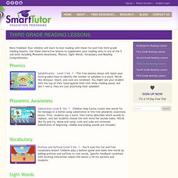 Free Third 3rd Grade Reading Lessons - Homeschool, After School, Elementary School, Summer Study
