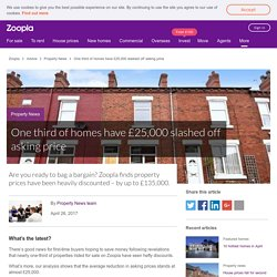 One third of homes have £25,000 slashed off asking price - Zoopla Mobile