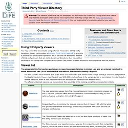 Third Party Viewer Directory