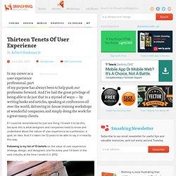 Thirteen Tenets Of User Experience