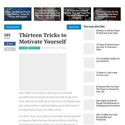 Thirteen Tricks to Motivate Yourself - lifehack.org