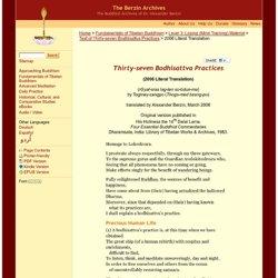 Thirty-seven Bodhisattva Practices
