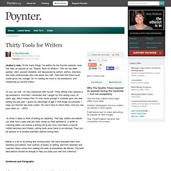 Online - Thirty Tools for Writers