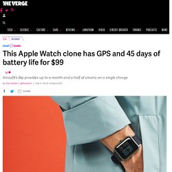 This Apple Watch clone has GPS and 45 days of battery life for $99