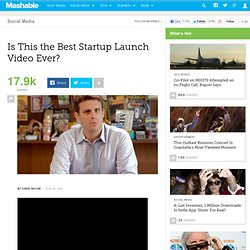 Is This the Best Startup Launch Video Ever?