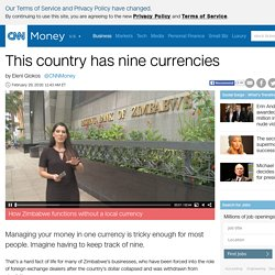 This country has nine currencies - Feb. 29, 2016