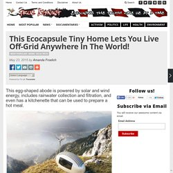 This Ecocapsule Tiny Home Lets You Live Off-Grid Anywhere In The World!