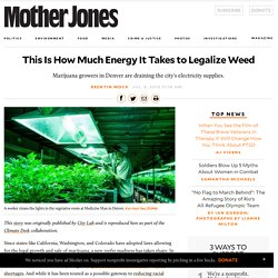 This Is How Much Energy It Takes to Legalize Weed