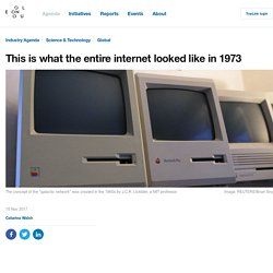 This is what the entire internet looked like in 1973