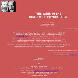 This Week in the History of Psychology - C. D. Green