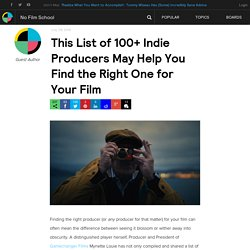 This List of 100+ Indie Producers May Help You Find the Right One for Your Film