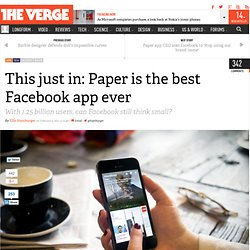 This just in: Paper is the best Facebook app ever