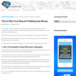 This is Why Your Blog Isn't Making Any Money - ShoeMoney