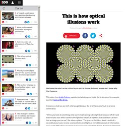 This is how optical illusions work