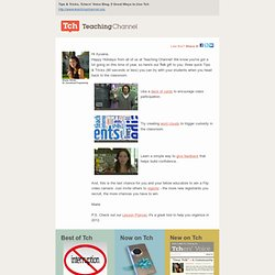 Tch This Week: Quick Classroom Tips & Tricks for 2012