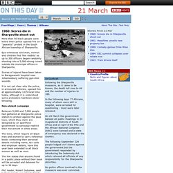 1960: Scores die in Sharpeville shoot-out