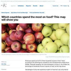 This map shows how much each country spends on food