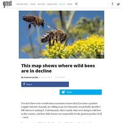 This map shows where wild bees are in decline