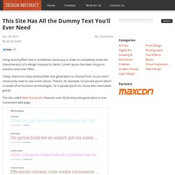 This Site Has All the Dummy Text You'll Ever Need